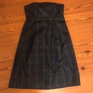 Vineyard Vines Blackwatch Plaid Tartan Silk Dress